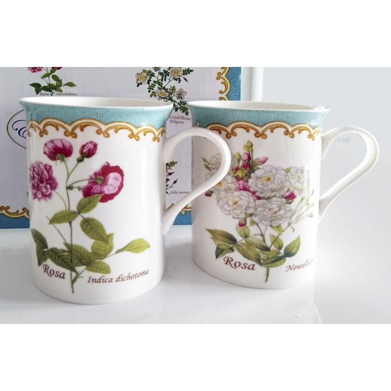 6 Tee- oder Kaffeebecher verschiedene Dekore