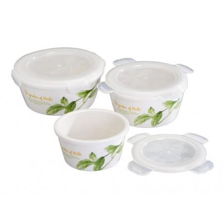 Porzellanschüsseln mit Aromaschutzdeckel