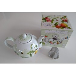 Teekanne mit Metallsiebeinsatz